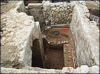 The 13th Century well house (courtesy of Oxford Archaeology)