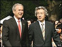 US President George Bush and Japanese Prime Minister Junichiro Koizumi