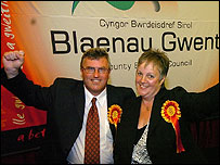 Independents Dai Davies and Trish Law