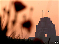 Poppies at sunrise on the Somme