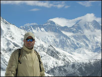 Nalvin Singh Khadka in the Himalayas