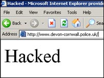 Hacked police website