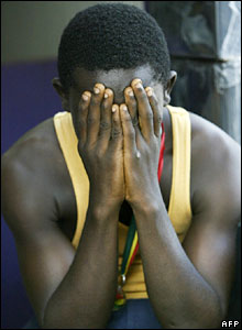 Ghanaian football fan
