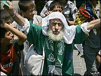 Hamas supporter in Gaza's Jebaliya refugee camp