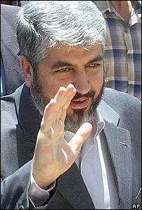 Dirigente de Hamas, Khaled Mashaal, en Siria.