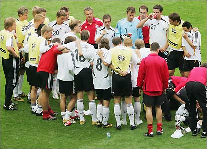 Germany prepare for extra time