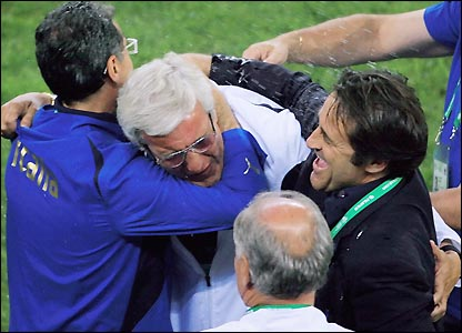 Marcello Lippi celebrates