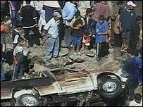Aftermath of Sadr City bomb attack