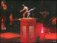 Cirque de Soleil performing Love