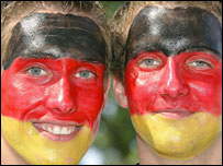 German supporters show their colours