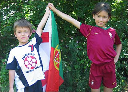 Born in Lisbon, brought up in Cambridge - two children have divided loyalties