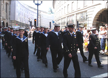Delegación de la marina británica.