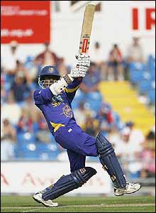 Upul Tharanga punishes the England bowling attack