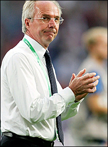 Sven-Goran Eriksson following defeat to Portugal in the World Cup quarter-final