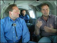 Brian Schweitzer (left) with the BBC's Matt Frei
