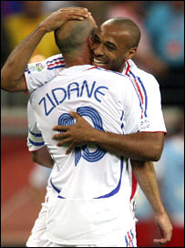 Zinedine Zidane and Thierry Henry