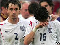 England's defeat against Portugal