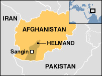 A map of Afghanistan