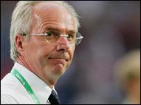 Departing england coach Sven-Goran Eriksson