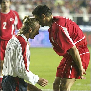 Beckham and Alpay go head to head