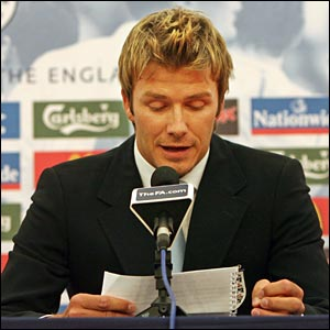 Beckham announces his resignation as captain