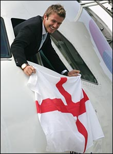 The mood was optimistic as England's team flew to Germany