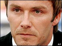 A tearful David Beckham