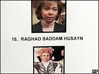 Photo of the daughter of former Iraqi leader Saddam Hussein, Raghad