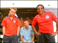 Derek Bell, Chris Stoyles and Peter Casey