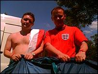 Glenn Wilson (left) and John McQue