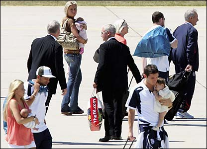 Players and family embark on the journey home
