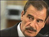 Presidente de M�xico, Vicente Fox.