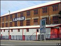 Airbus plant in Filton, near Bristol