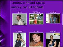 MySpace web page