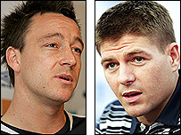 John Terry (left) and Steven Gerrard