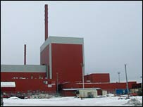 Olkiluoto nuclear power station, Finland.  Image: BBC