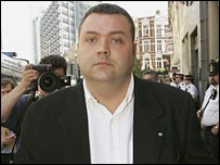 Former racing syndicate director Miles Rodgers arrives at Bishopsgate Police Station