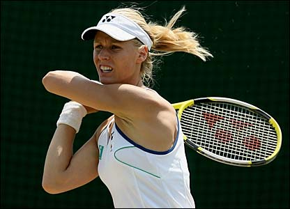 Elena Dementieva in action
