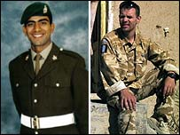 L/Cpl Jabron Hashmi and Cpl Peter Thorpe