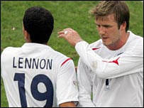 Changing of the guard: Lennon is likely to replace Beckham