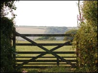 Farm gate in Devon