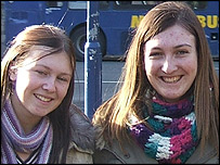 Jennifer Stoddart, 15 and her 18-year-old sister Claire