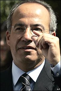 Felipe Calderón, del PAN.