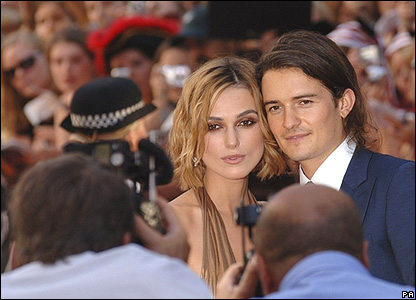 Keira Knightly and Orlando Bloom