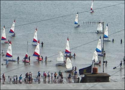 Yacht regatta at Gellswick Bay Milford Haven, sent in by Margaret Fairburn
