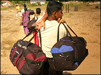A Tamil refugee fleeing Sri Lanka