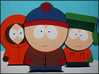 Characters from the cartoon South Park