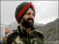 Colonel Chauhan, of the 5th Battalion of India's Grenadier Guards