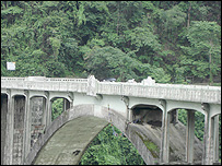 Bridge near the India-China border