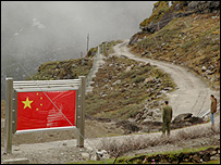 Border road at the Nathu La Pass, Sikkim